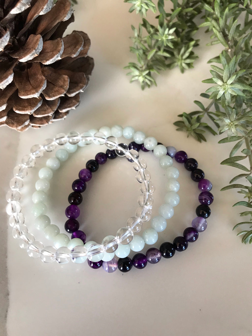 COLLECTION ~ GOOD LUCKHealing Bracelet Collection Set of 3©️