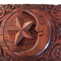 Wooden Trinket Box ~ MOON & STAR