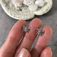 Honey Bee Silver Studs