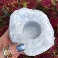 Candle Holder ~ Blue Calcite