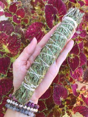 Agna Tree fern/ Tallowood/Tea Tree & Wattle Smudge Stick ~ TRUST