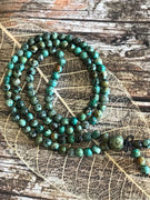 African Turquoise Mala/Prayer Beads GOOD LUCK