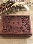 Wooden Trinket Box ~ SUGAR SKULL