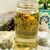 Organic Floral Flowering Tea Balls ~ SOULFUL AWAKENING ©