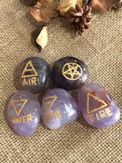 5 Element Stones ~ Amethyst includes pouch