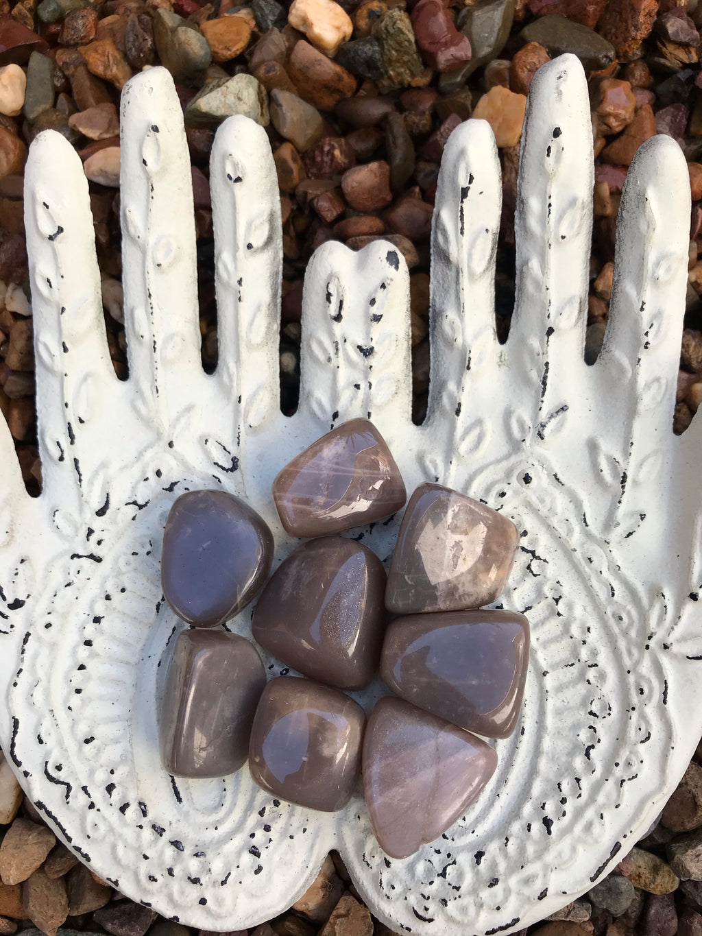 Peach Moonstone Tumble Stones