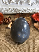 Agate Egg Includes Hematite Ring