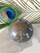 Blue Aventurine Sphere Includes Wooden Holder