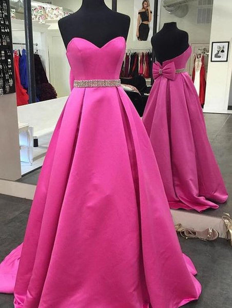 Sweetheart Satin Long Prom Dress ,Wedding Party Dress,Popular Cocktail Dress,Fashion Evening Dress  PDS0146