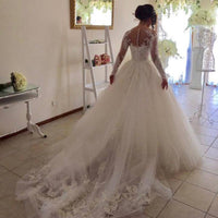 Fashion Appliqued Ball Gown Wedding Dress ,Popular  Ball Gown Wedding Dress  BDS0215