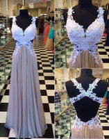 A-line Appliqued Long Prom Dress  ,Popular Wedding Party Dress,Fashion Evening Dresses PDS0116