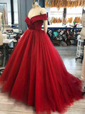 Off the Shoulder Ball Gown Long Prom Dress Wedding Party Dress Formal Dress PDS0589
