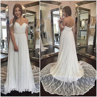Off the Shoulder Chiffon/Lace Beach Wedding Dress Bridal Reception Dresses Vestidos de Novia BDS0502