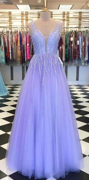 2020 Long Prom Dresses with Beading,Sweet 16 Dress, Pageant Dress, Wedding Party Dress PDS1122
