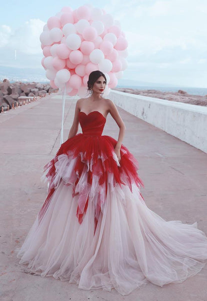 Sweetheart Tulle Ball Gown Wedding Dress , Fashion Custom Made Bridal Dresses, Plus Size Wedding dress BDS0679
