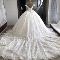 Off the Shoulder Lace Wedding Dress, Bridal Dresses , Ball Gown