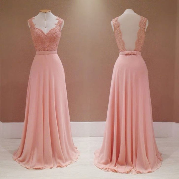 Pink Long Prom Dress Bridesmaid Dress Mother of The Bride Dress PDS0496