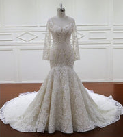 Fashion Lace Mermaid Wedding Dress ,Popular Wedding Dress  BDS0217