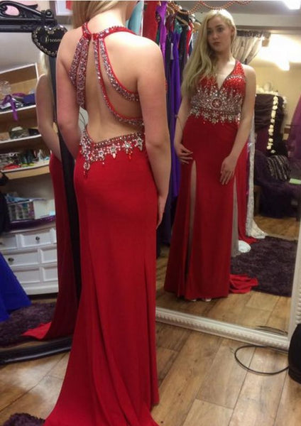 Fashion Beaded Long Prom Dress Wedding Party Dress Formal Dress PDS0668