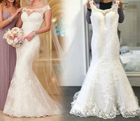 Mermaid Real Photo Wedding Dress,Popular Bridal Dress With Applique BDS0120