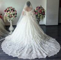 Off the Shoulder Ball Gown Wedding Dress With Applique Cheap Bridal Dresses BDS0306