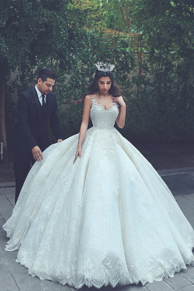 Princess Style Lace Wedding Dress Wholesale Bridal Wedding Gown