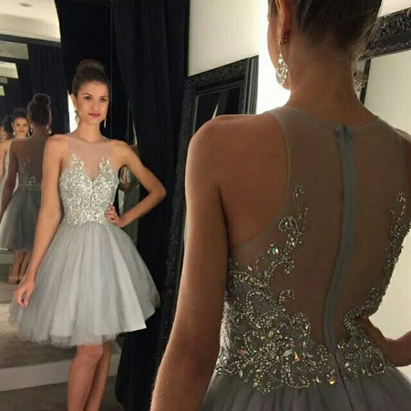 Fashion Beading Homecoming Dress,Short Prom Dress PDS0012