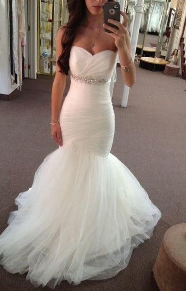 Sweetheart Mermaid Wedding Dress ,Popular Wedding Dresses, Fashion Bridal Dress BDS0182