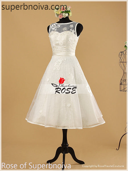 A-line Short Real Photo Wedding Dress Reception Bridal Dresses BDS0450