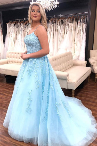 2020 Long Prom Dresses with Applique,Sweet 16 Dress, Pageant Dress, Wedding Party Dress PDS1121