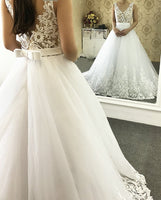 V-neck Wedding Bridal Dresses  ,Vestidos de Novia BDS0331