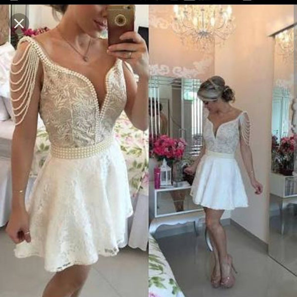 A Line Homecoming Dress ,Short Wedding Dress, Prom Dresses Cocktail Dresses Graduation Dresses PDS0301