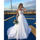 A-line Wedding Dress with Applique and Beading , Fashion Bridal Dress BDS0255