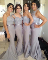 Fashion Mermaid Long Bridesmaid Dresses Wedding Party Dress Formal Dress PDS0645