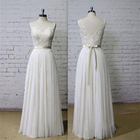 Backless A-line Wedding Dress ,Popular Chiffon Beach Wedding Dresses, Fashion Appliqued Bridal Dress BDS0020