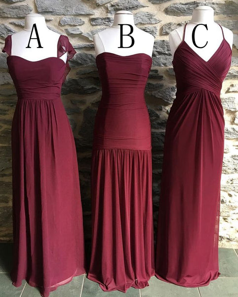 A-line Simple Long Prom Dress Wedding Party Dress Bridesmaid Dress PDS0494