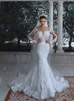 Mermaid Lace Wedding Dresses ,Wholesale Bridal Wedding Gown, Dress For Brides BDS0610