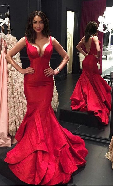 Sexy Mermaid Long Prom Dress Wedding Party Dress Formal Dress PDS0576