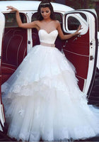 Sweetheart Ball Gown Wedding Dress Appliqued Bridal Dresses BDS0316