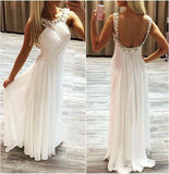 Sex A-line Backless Beach Wedding Dress ,Popular Beach Bridal Dress BDS0073