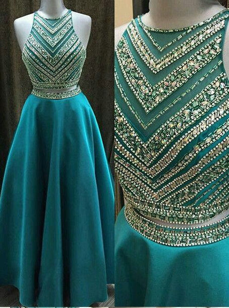 Two Piece Beaded Long Prom Dress ,Wedding Party Dress,Popular Cocktail Dress,Fashion Evening Dress  PDS0149