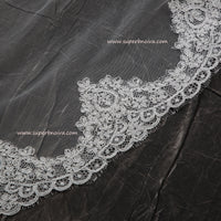 Wedding Large Veil Lace Veil Cathedral Wedding Veil  LV02