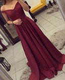 Elegant Prom Dress,Sleeveless Prom Dress,Burgundy Evening Dress,Evening Party Dress  PDS0369