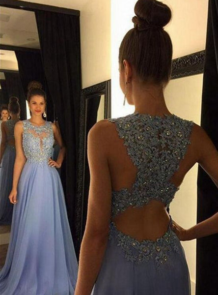 2018 New A-line Long Prom Dress, Long Evening Dress PDS0424