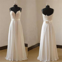 A-line Real Photo Wedding Dress ,Popular Chiffon Beach Bridal Dress BDS0004