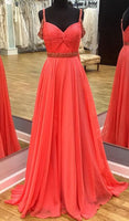 A-line Long Prom Dress Wedding Party Dress Formal Dress Dance Dress PDS0493
