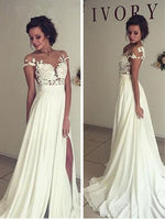 Popular A-line Beach Wedding Dresses, Fashion Bridal Dress BDS0034