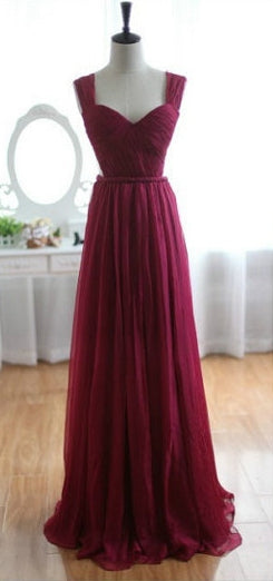 Backless A-line Simple Long Prom Dress Wedding Party Dress Formal Dress Dance Dress PDS0492