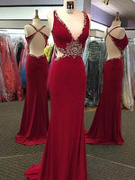 Sex Beading Long Prom Dress  ,Popular Wedding Party Dress,Fashion Evening Dresses PDS0117