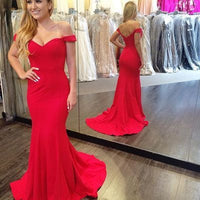 Off the shoulder Mermaid Long Prom Dress Wedding Party Dress Formal Dress PDS0575